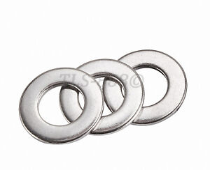 M1.6 to M30 Flat Washers To Fit Metric Bolts & Screws - A2 304 Stainless Steel