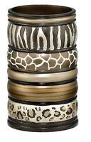 Popular Bath Safari Stripes Bath Collection - Bathroom Tumbler Cup