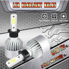 H3 LED Fog Light Bulbs Driving DRL 6000K White for For 2001-2004 Toyota Corolla