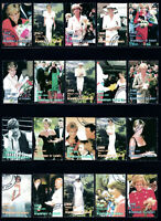 Princess Diana collection of 50 different 1997-98 used stamps (see all 3 scans)