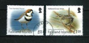 Falkland Is - used £1.00 & £1.20 2017 Bird definitives - Sc # 1195-6