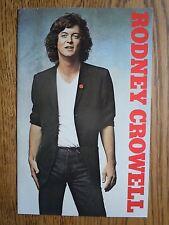 **1981 Rodney Crowell Self Titled 3rd Warner Brothers Album Promotional Brochure