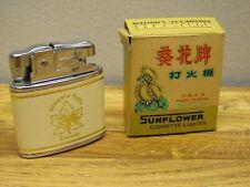 Vintage SUNFLOWER Cigarette Lighter Niagara Falls Canada No. 1105A