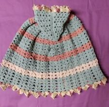 """Hand made baby cape Earth tones 0-6 mos. 18"""" long"""