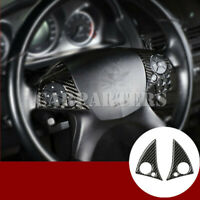 For Benz E Class W212 C207 Carbon Fiber Steering Wheel Button Cover 2009-2011