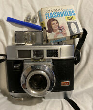 Vintage Kodak Motormatic 35F 35mm Film Camera AG1 Flashbulbs & Package *READ