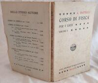 ANGELO BATTELLI CORSO DI FISICA COSMOGRAFIA MECCANICA ACUSTICA 1914 PHYSICS ILLS