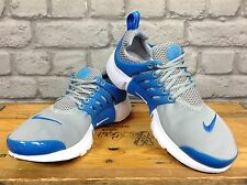 NIKE UK 4.5 AIR PRESTO WOLF GREY AND BLUE TRAINERS RRP £90.00 CHILDRENS LADIES