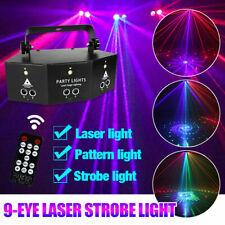 Laser LED Light Remote 9-EYE RGB DMX Scan Projector Strobe DJ Stage Lights US*