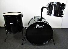 "Pearl Forum Three Piece Drum Set Black w/ Black Hardware 22/16/12"""