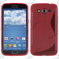 Housse etui coque TPU silicone gel S-Line Samsung Galaxy Core 4G LTE G386F Rouge