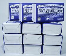 DR. BRONNER'S MAGIC ORGANIC PURE CASTILE PEPPERMINT BAR SOAP 5OZ *12 LOT*