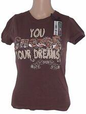 terranova tshirt donna marrone cioccoltao paillettes taglia s small
