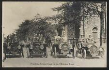 REAL PHOTO Postcard SYRACUSE NY FRANKLIN MOTOR CARS IN GLIDDEN TOUR view 1908