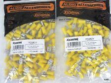 200pc Audio Accessories Xscorpion Fd250Y (.250 12-10Ga) Yellow