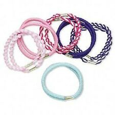 3732JE Hair Tie Ponytail mix, Stretch, Twist Fabric, assorted colors, 12 Qty