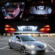 03-09 Mazda 3 Interior White LED Bulb Package (Map+Dome+Trunk+License Plate)2