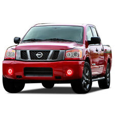 LED Fog Light Halo Ring Bluetooth Multi-Color RGB Kit for Nissan Titan 04-15