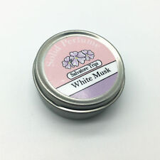 White Musk Solid Perfume Natural Salvatore Tripi 10g Alcohol Free Handmade Scent