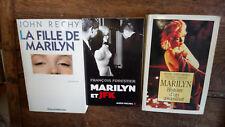 lot 3 livres Marilyn histoire d'un assassinat La fille de Marilyn Marilyn et JFK