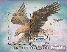 Kirgisistan Block11A fine used / cancelled 1995 Birds of prey