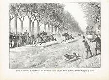 REGGIMENTO SAVOIA CORSA RESISTENZA Horse Racing Ippica Cavalli - Incisione 1800