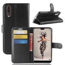 Funda para el Huawei P20 Libro Cover Wallet Case-s bolsa Negro