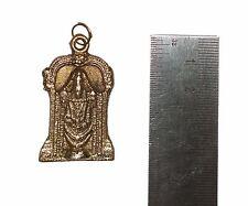Brass Good Luck Charm VISHNU TIRUPATI BALAJI Pendant / Amulet 'RARE'