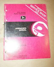 1983 John Deere 970 Series Roller Harrows Operator's Manual P/N Om-A35085 K3