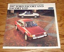 Original 1987 Ford Escort & Escort Exp Sales Brochure 87