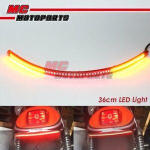 36cm LED Integrated Turn Signal Tail Brake Light Strip For BMW Honda Yamaha