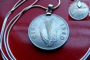 "Ireland Lucky 1980 Gaelic Pendant on an 24"" 925 Italian Silver Snake Chain"