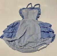 Vintage~Baby~Ruffled Sunsuit~24 Months~EUC~Cotton
