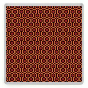 Overlook Hotel Carpet Pattern Coaster. Inspired by The Shining