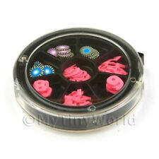 80 Assorted Nail Art Numbers And Poker Chip Slices In A Wheel