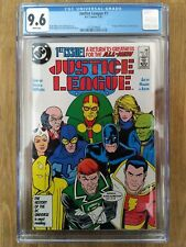 Justice League #1, CGC 9.6 (DC, 1987) 1st app. Maxwell Lord
