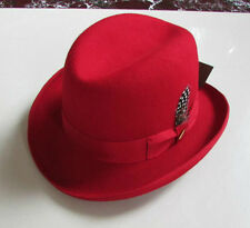 New Classic WoolFelt Homburg Fedora Hat / Godfather Hat  Men's/Woman's
