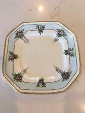 "B & C Limoges France Bernardaud flowers Square Porcelain plate 7"""