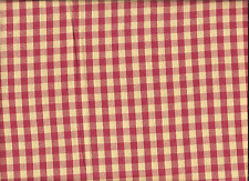 100%COTTON LARGE CHECKS FROM OLD MILL OUTLET,ONE YARD.