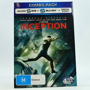 Inception DVD Blu Ray Combo Pack Leonardo DiCaprio Good Condition Free Postage