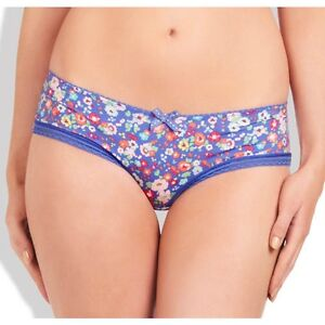 Evollove Twilight Dream Brazilian Brief Pant Blue Floral Lace Size XS BRAND NEW