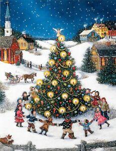 "Linda Nelson Stocks ""Dancing Around The Christmas Tree"" Boxless Puzzle *NEW*"
