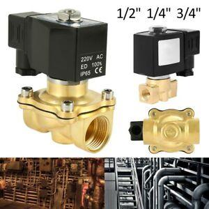 Magnetventil Messing 220V 3/4'' Wasserventil N/C Stromlo geschlossen DE