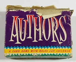 Authors Mini Card Game - Whitman-- Vintage
