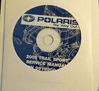 2005 POLARIS SNOWMOBILE TRAIL SPORT SERVICE MANUAL CD P/N 9919300-CD (709)