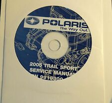 2005  POLARIS SNOWMOBILE TRAIL SPORT SERVICE MANUAL CD P/N 9919300-CD (709)
