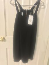 WOMEN'S NEW WITH TAGS 'MUCHACHA'  LITTLE BLACK DRESS RAYON SPANDEX  EXPOSED BACK