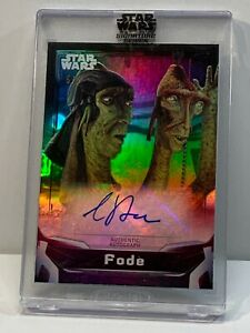 2021 TOPPS STAR WARS SIGNATURE GREG PROOPS AUTO #/5 FODE $5/5