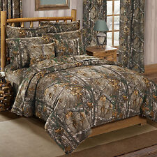 Realtree Xtra Queen Comforter Set w/sheets AP Camouflage 7pcs Outdoor Hunting