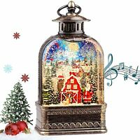 Santa Christmas Musical Lighted Snow Globe Lantern Snowman Water Children Gift